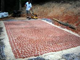 Installing 12x12 Patio Pavers by How To Install A Cobblestone Patio How Tos Diy
