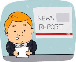 Illustration Of A Newscaster At Work Stock Photo Picture And