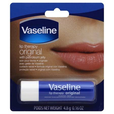 Vaseline Lip Therapy, Original, with Petroleum Jelly - 4.8 g