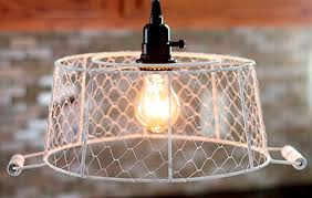 Plug In Swag Lamps Ebay by Plug In Pendant Light Chicken Wire Basket How To Plug In Pendant