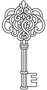 Key Coloring Page Clipart Colouring Pencil And In Color
