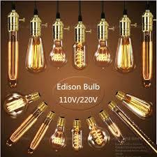 vintage edison bulb st64 g80 a19 e27 incandescent bulb filament