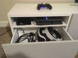 besta tv stand with 3 4 drawer from ikea psvr