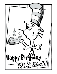 Trendy Inspiration Printable Coloring Pages Free Dr Seuss For Toddlers Online One Fish Two