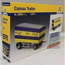 100 Model Truck Kits Italeri 124 3880 CANVAS TRAILER MODEL TRUCK KIT Italeri From KH