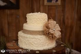 Rustic Wedding Cake With Lace Country Burlap And Bow