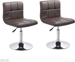 duhome 2er set moderner esszimmerstuhl küchenstuhl höhenverstellbar drehbar stuhl 451n farbe braun material kunstleder