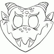 Monster Printable Coloring Masks Halloween By HappilyAfterDesigns