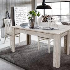 grande essgruppe im skandinavischen stil ausziehbarer esstisch mit 4 stühlen
