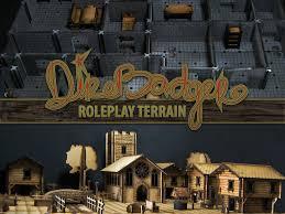 3d Dungeon Tiles Kickstarter by Kickstarter Direbadger Lasercut Roleplay Town U0026 Dungeon Terrain