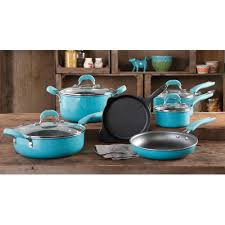 Play Kitchen Sets Walmart by The Pioneer Woman Vintage Speckle 10 Piece Non Stick Pre Seasoned