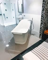 eine freistehende badewanne ist immer etwas feines vor
