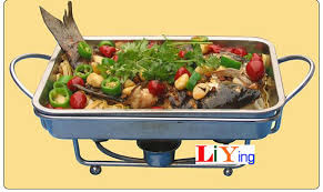 Stainless Steel Rectangular Chafing Dish Lid Hotpot Holder 32cm26cm Winter Catering Banquet Buffet Pan
