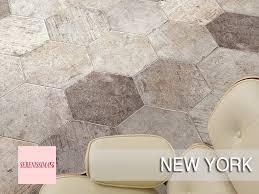 Serenissima Tile New York by Serenissima Esagona Soho Extreme Ceramics
