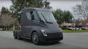 Tesla Semi: Watch The Electric Truck Burn Rubber By CAR Magazine