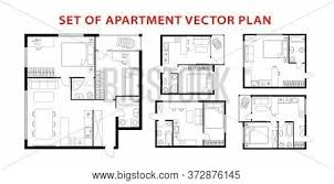 104 Two Bedroom Apartment Design Architecture Plan Vector Photo Free Trial Bigstock