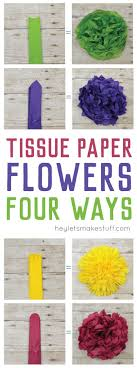 Tissue Paper Flowers Make A Gorgeous Budget Wedding Centerpiece Learn How To Four Different