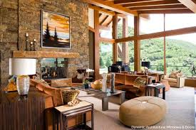 Rustic Wood Window Wall Living Room