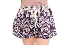 elephant cotton beach shorts