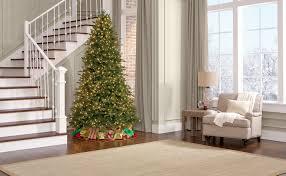 Ge Slim Artificial Christmas Trees by 7 5 U0027 Pre Lit Deluxe Aspen Fir Tree U2014sears