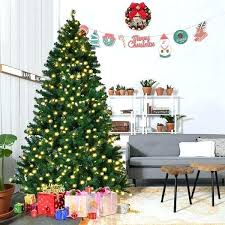 10 Foot Christmas Tree Lit Artificial Hinged W Trees Led Lights Stand New