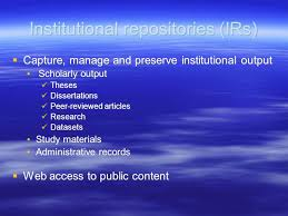 Institutional Repositories A Bluffers Guide Academic Libraries And