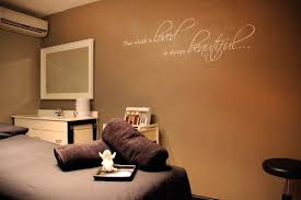 Vinyl Wall Lettering That We Created For A Day Spa Treatment Room