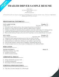 Truck Driver Resume Example S Cdl Sample