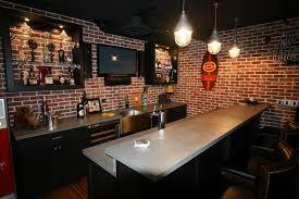 Interior Basement Sports Bar Intended For Splendid Home Decor