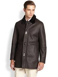 Ferragamo Leather & Lamb Shearling Coat In Brown For Men | Lyst Womens Brown Shearling Sheepskin Duffle Coat Daria Uk Lj Coach Jacket In Green For Men Lyst Taylor Stitch Blanket Lined Barn Jacket Huckberry Consume Urban Outfitters Uo Faux Barn And Wool Shop Jackets Peter Millar Cortina Leather Fur Fashion 2017 Weatherproof Fauxshearling For Women Save 50 237 Best Sheepskins I Love Images On Pinterest Bogoli Lamb Amazoncom Mountain Khakis Mens Ranch Sports