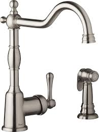 danze d401157ss opulence single handle kitchen faucet with side spray stainless steel