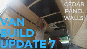 7 CEDAR WALLS AND CEILING INSTALLATION Sprinter Van Conversion Build