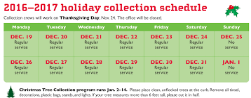 Seattle Christmas Tree Disposal 2014 by Holiday Collection Schedule Recology