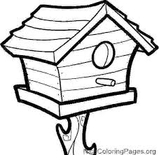 Birdhouse Coloring Pages 8