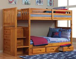 Honey Stair Stepper Twin over Twin Bunk Bed Discovery Furniture