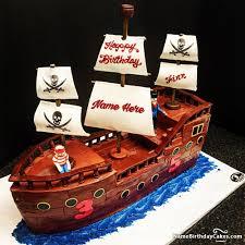 Creative Pirate Birthday Cake For Children