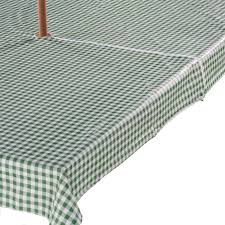 Rectangle Patio Tablecloth With Umbrella Hole by Amazon Com Gingham Zippered Umbrella Table Cover 60