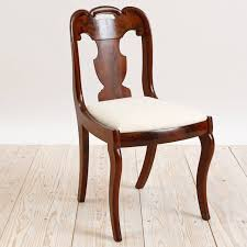Polished Set Of Six American Empire Dining Chairs Circa 1830 For Sale