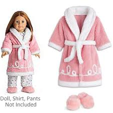 American Girl Emily Robe Slippers Retired Doll Clothes Shoes Molly