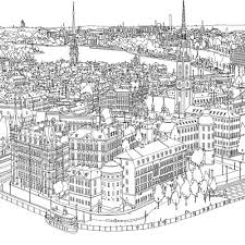 Steve McDonald Fantastic Cities A Coloring Book Of Amazing Places Real And Imagined Swedenstockholmwee