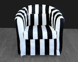 Ikea Tullsta Chair Slipcovers by Striped Chair Etsy