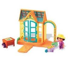 Dora The Explorer Talking Kitchen Set by Dora The Explorer Talking Dollhouse Greenhouse Pool Furniture