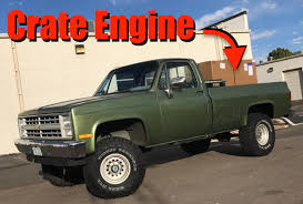 1985 Chevy K10: Big Green Gets A Brand New V8 Crate Engine! - The ... Diagram For 5 7 Liter Chevy 350 Data Wiring Diagrams Gm Peformance Parts Ls327 Crate Engine 2002 Avalanche Image Of Truck Years Performance Ls3 With 4l80e Transmission 480 Hp Deep Red Paint Lm7 347ci Base 500hp In Project Shop Hot Rod Network 1977 Small Block Motor Basic Guide Rebuilt A 67 C10 405hp Zz6 To Celebrate 100 Years Of Out With The Old In New Doug Jenkins Garage 60l 366 Lq4 Ls2 Ls6 545 Horse Complete Crate Engine Pro At 60 History Facts More About The That