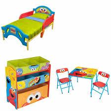 Elmo Toddler Bed Set by Toddler Bed Bedroom Set 3 Piece Sesame Street Elmo Furniture Toy