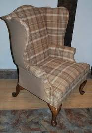 arnold fireside high back wing chair huntingtower grape wool check