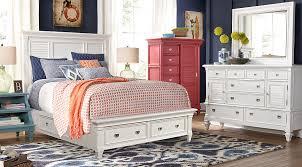 Rooms To Go Queen Bedroom Sets by Belmar White 7 Pc Queen Panel Bedroom With Storage Queen Bedroom