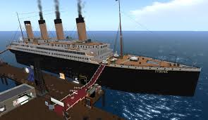 Titanic Sinking Animation 2012 by Sl Newser Places The Titanic In Second Life