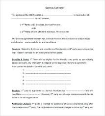 Standard Terms Of Service Agreement Template Contract And Important To Write