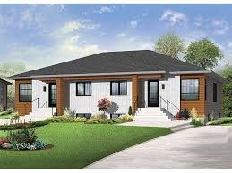 Images Duplex Housing Plans by 027m 0062 Modern One Story Duplex House Plan Rent House