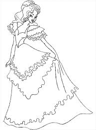 Beautiful Ladies Wear Wedding Dress Colouring Page Coloring